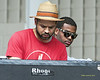 Jason Moran adn Kris Bowers - perfoming at The 2012 Charlie Parker Festival at Marcus Garvey Park, New York City, August 25, 2012